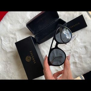 Stylish black and gold Versace sunglasses